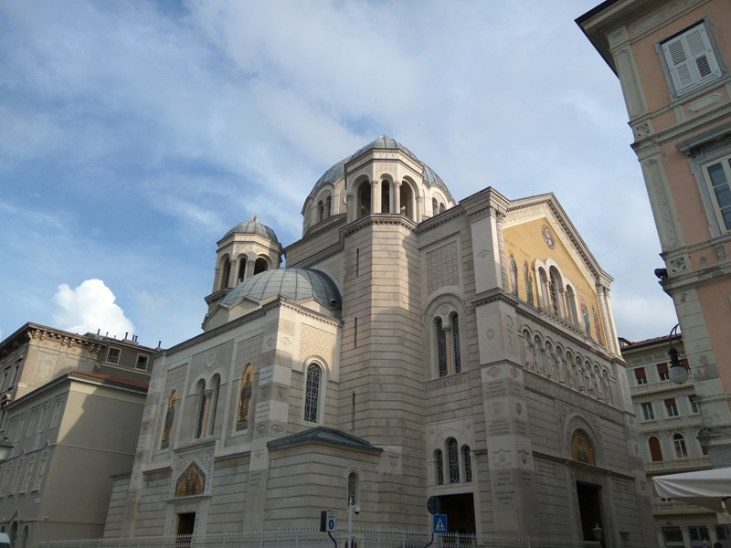 SS. Trinity and St. Spyridon Serbs Orthodox temple in Trieste